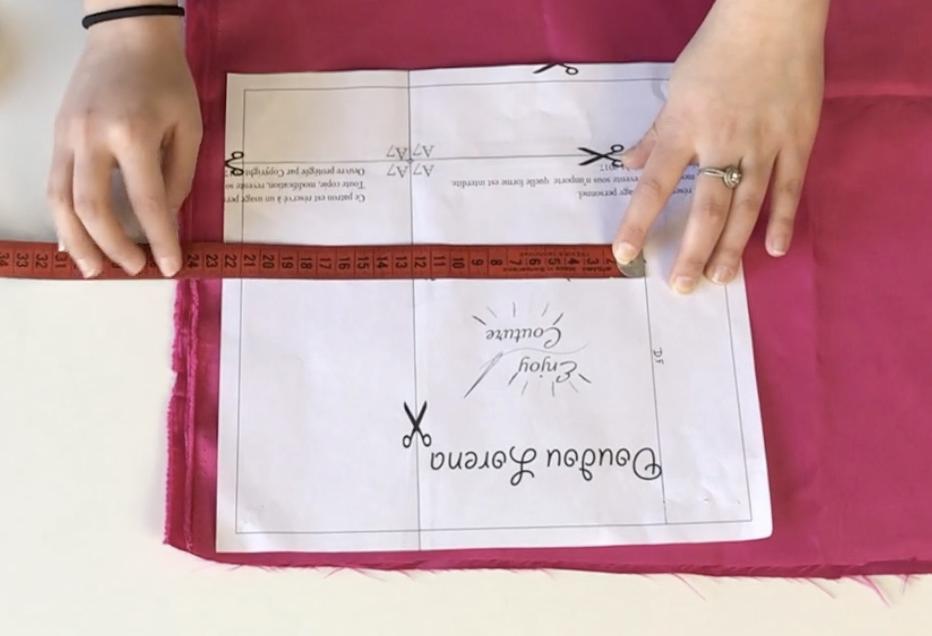 Comment placer son patron correctement sur le tissu ?