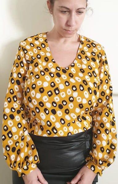 blouse ebene rejasse